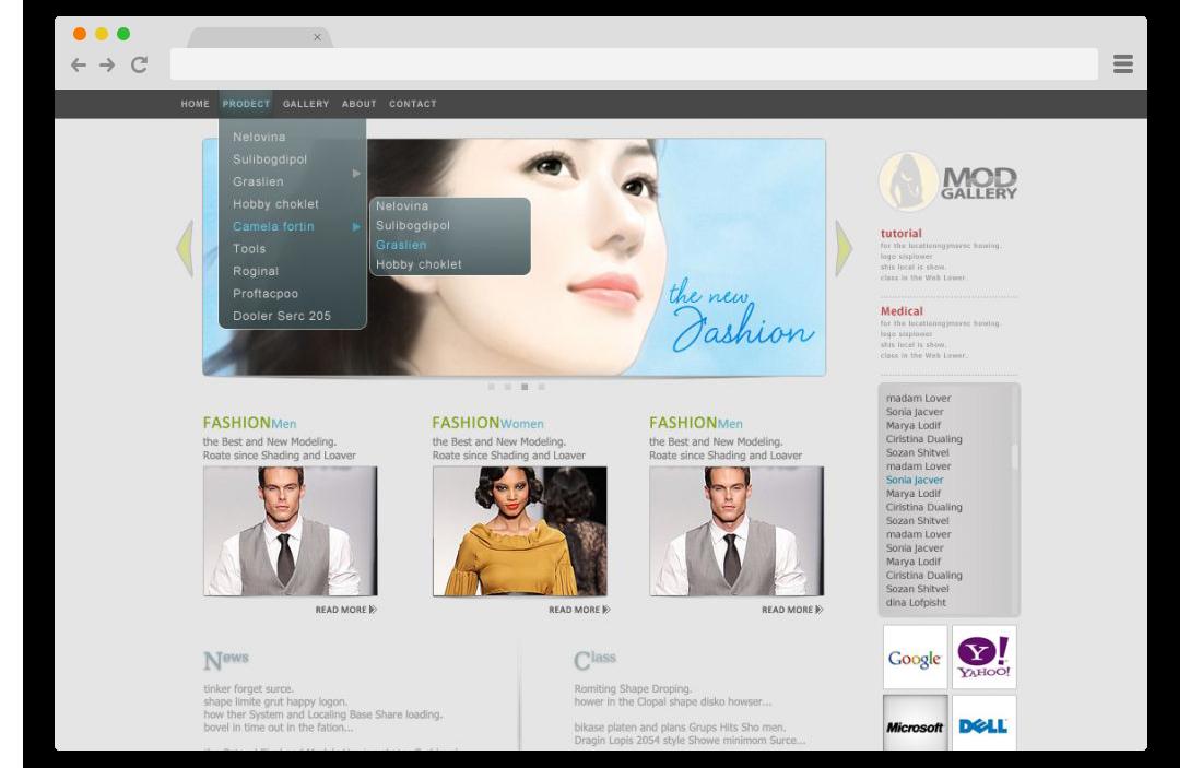 طراحی سایت محصولات پوستی